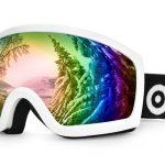 Odoland blanc anti-UV400 masque de ski