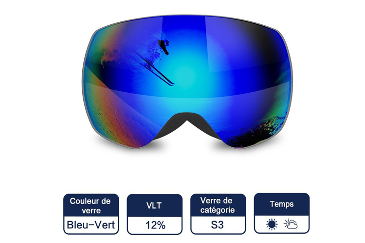 Tomount Anti-UV400 masque de ski